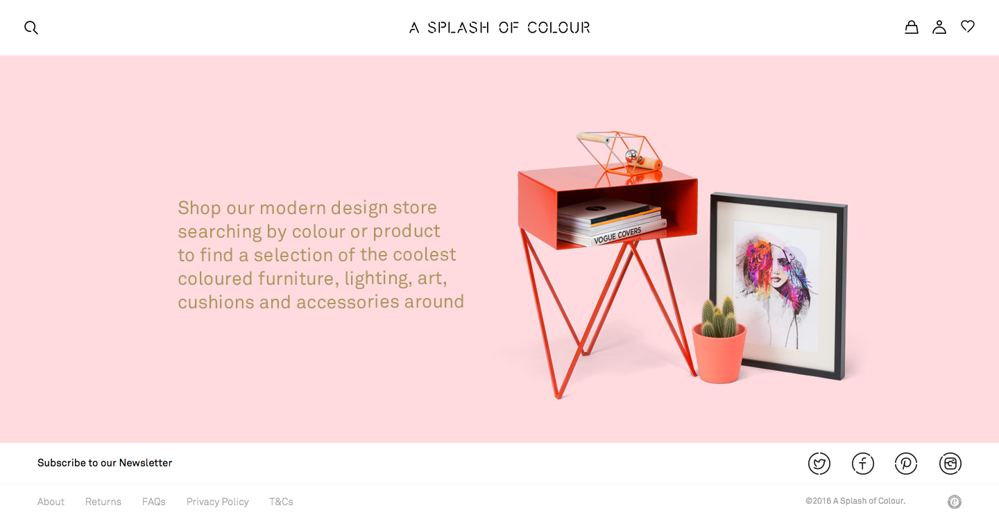 Colors art website - A Simple Beautiful Website That Lets You Shop For Interior Decorations By Color