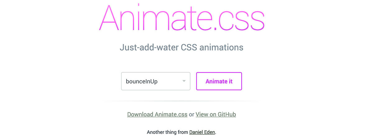 Animate Css tools for web designers