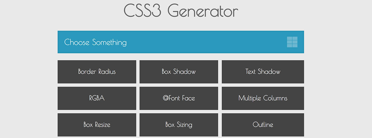 css3 tools for web designers