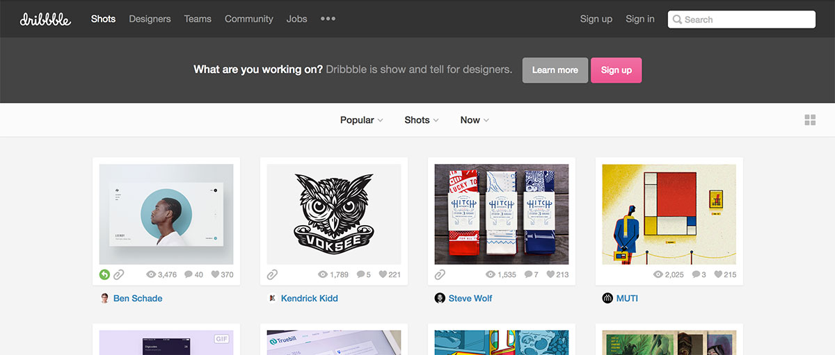 dribbble tools for web designers
