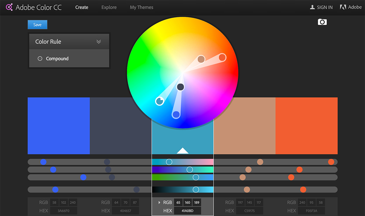Color wheel complementary colors - Flat Ui Colors