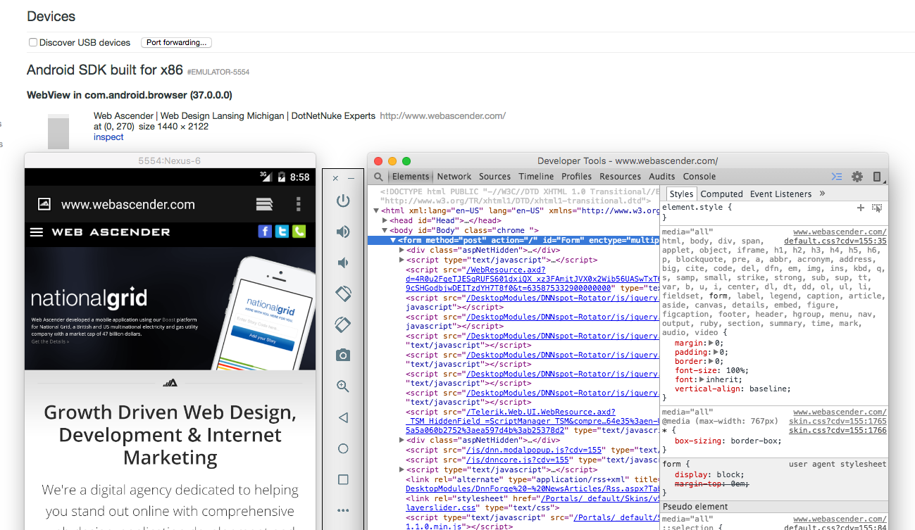 Debug Websites Within Your Android Emulator Using Chrome DevTools