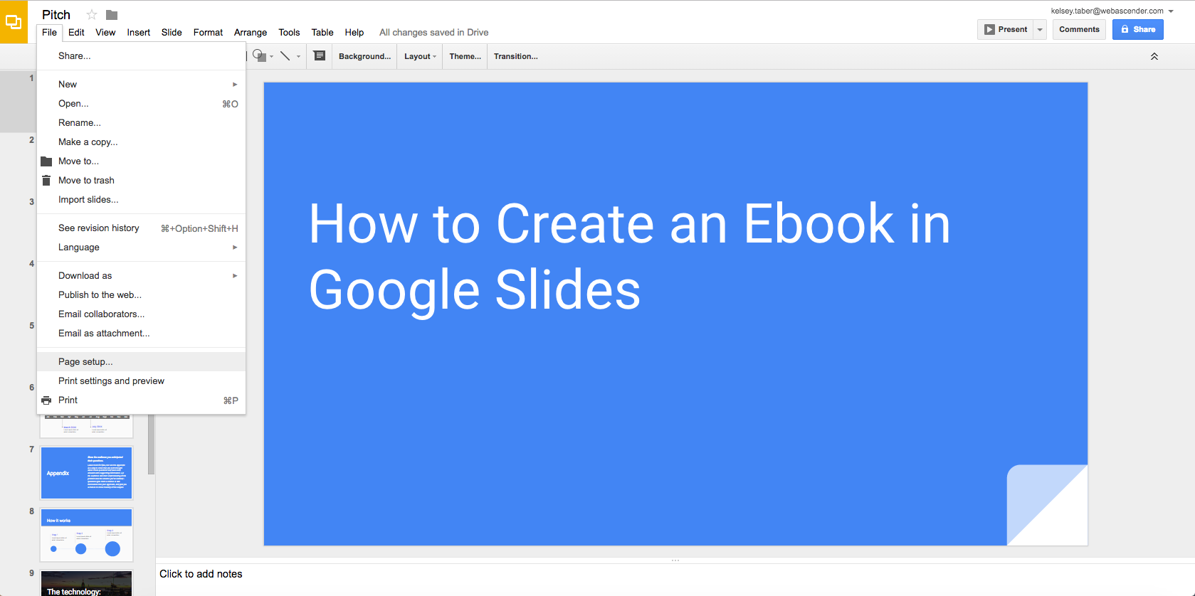 How To Create An Ebook With Google Slides Web Ascender