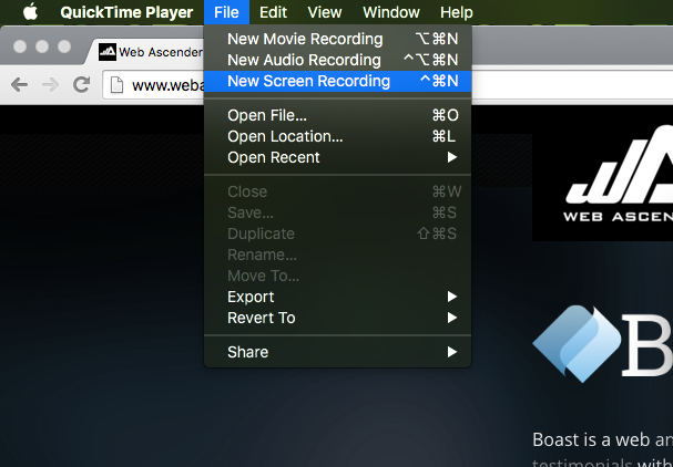 Free Screencast Software Built Right Into Mac OS X - Web