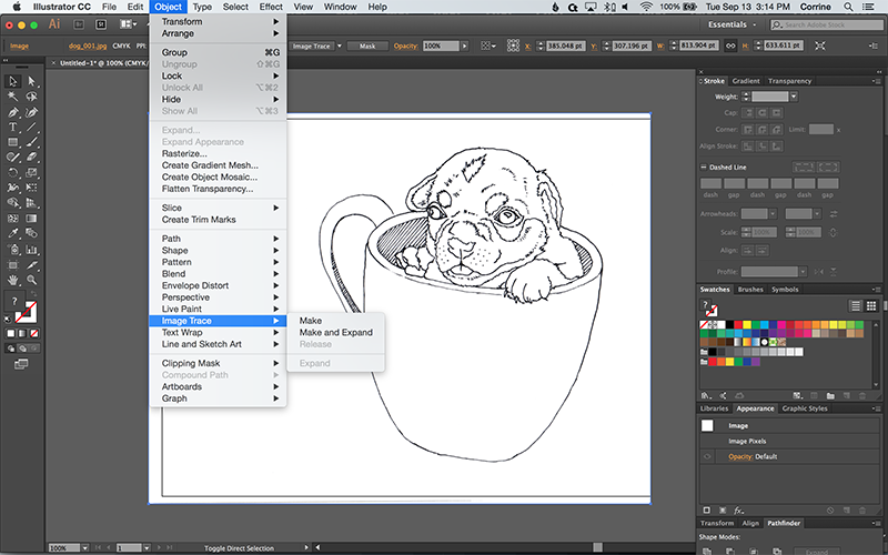 Line Art Vector Illustrator : How to turn a photo into vector line art with illustrator web