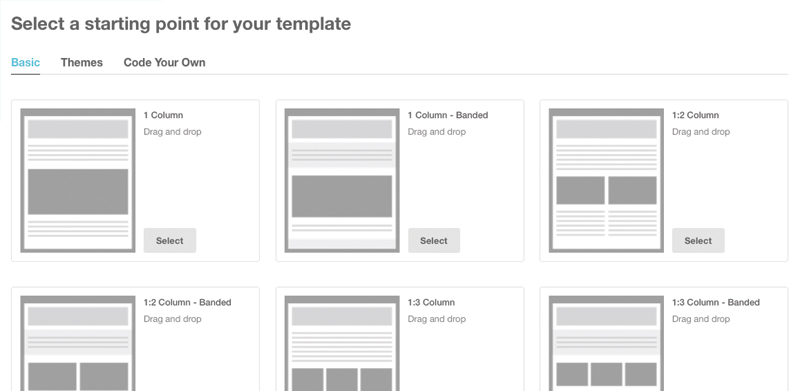 Tutorial for creating a custom email template in mailchimp web step 2 mailchimps email designer spiritdancerdesigns Gallery