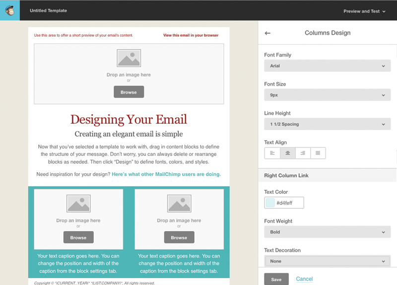 Tutorial for creating a custom email template in mailchimp web the last section that im going to update is the footer ill change the background and text color spiritdancerdesigns Gallery