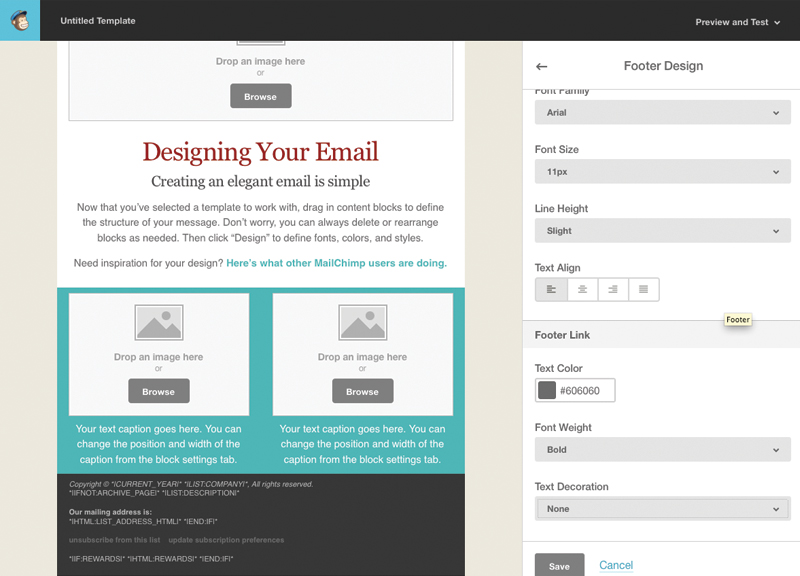 Tutorial For Creating A Custom Email Template In MailChimp Web - Mailchimp template size
