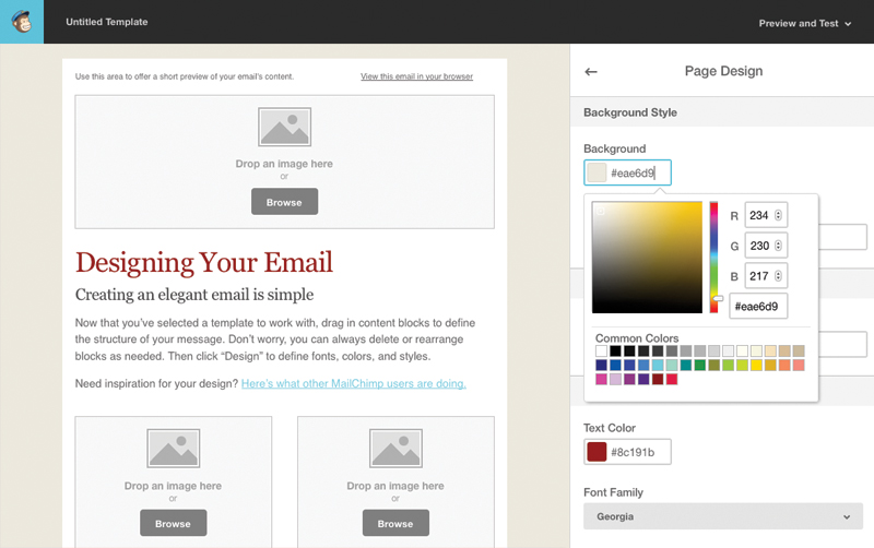 Tutorial for Creating a Custom Email Template in MailChimp - Web ...