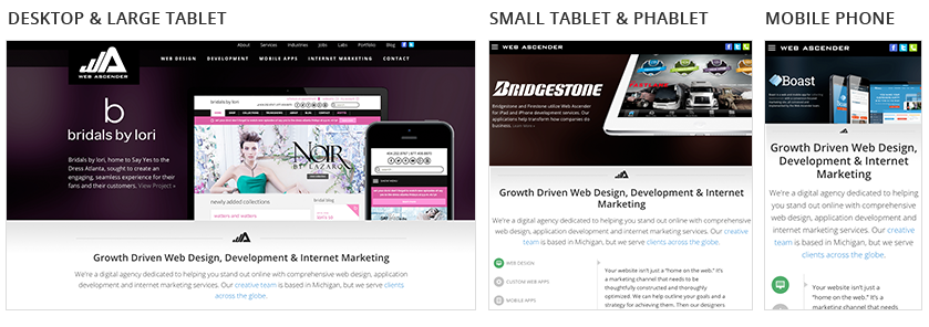 Mobile Navigation from Desktop to tablet to phone