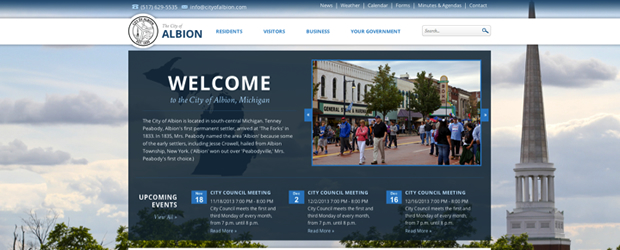The City of Albion website has a beautiful, large background