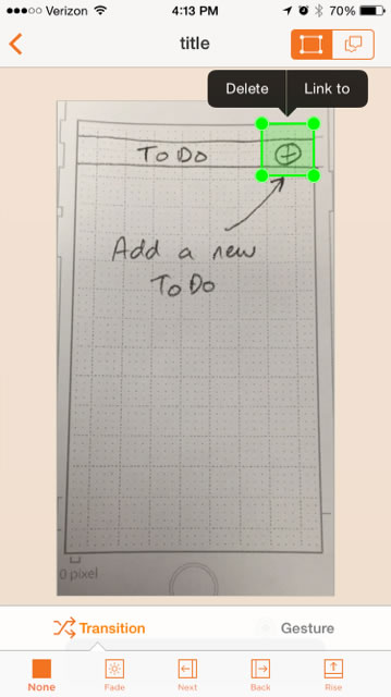 interactive paper wireframe