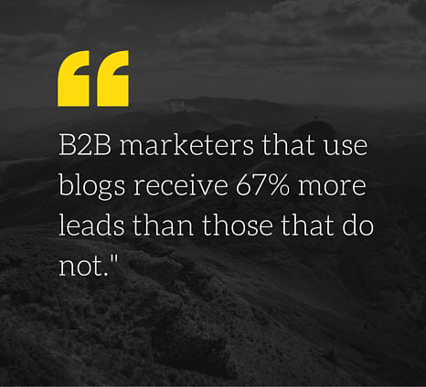 marketers that use blogs receive 67% more traffic