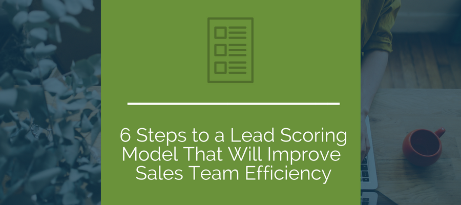 6 Steps to a Lead Scoring Model that will Improve Sales Team Efficiency