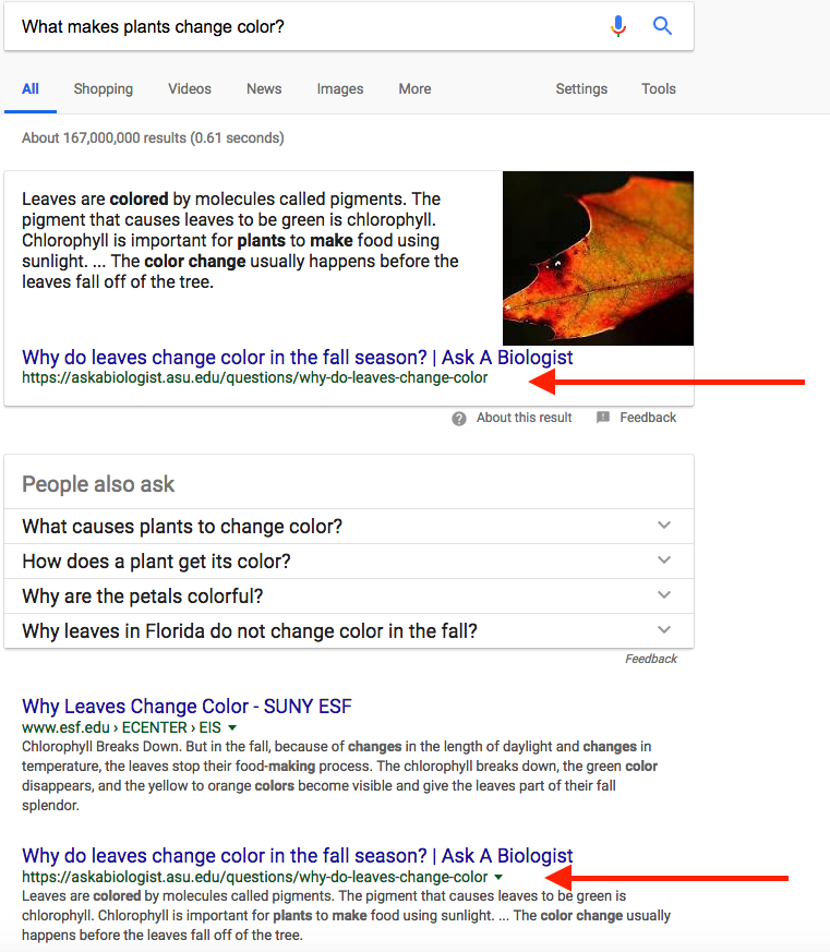google featured snippets affect SERP position