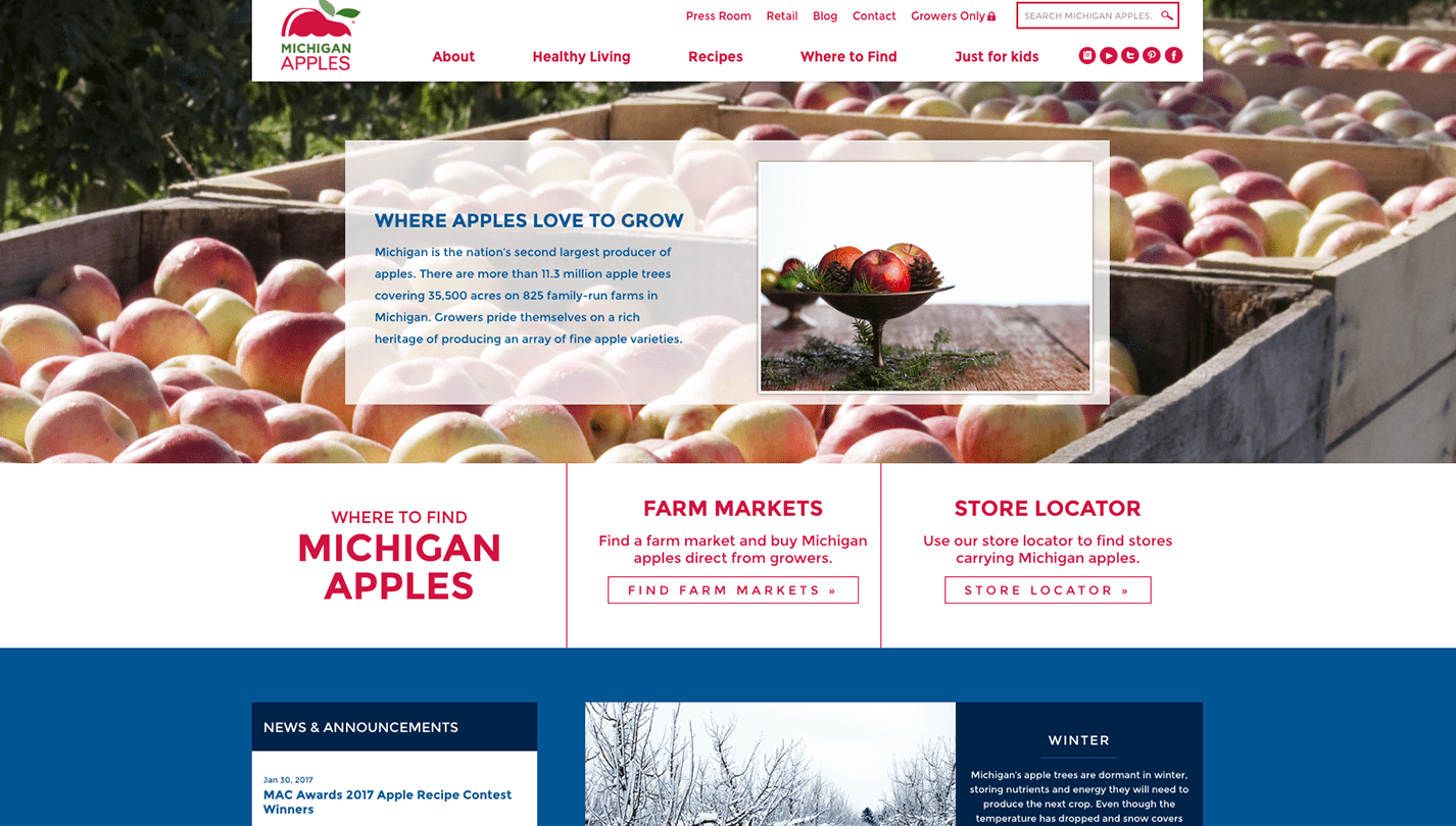 Michigan Apple screenshot