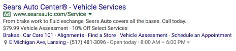 Sitelinks Google Ad Extensions