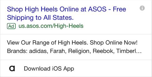 app google ad extensions
