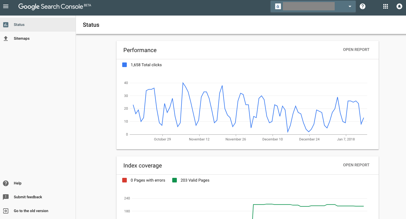 google search console updates