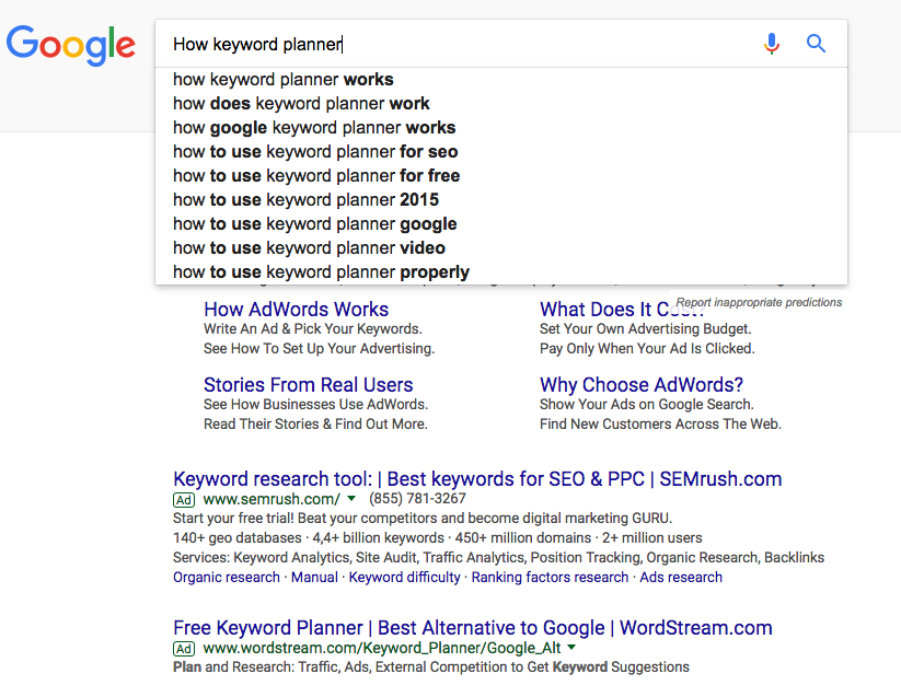 How to Use Google Adwords Keyword Planner to Find Keywords
