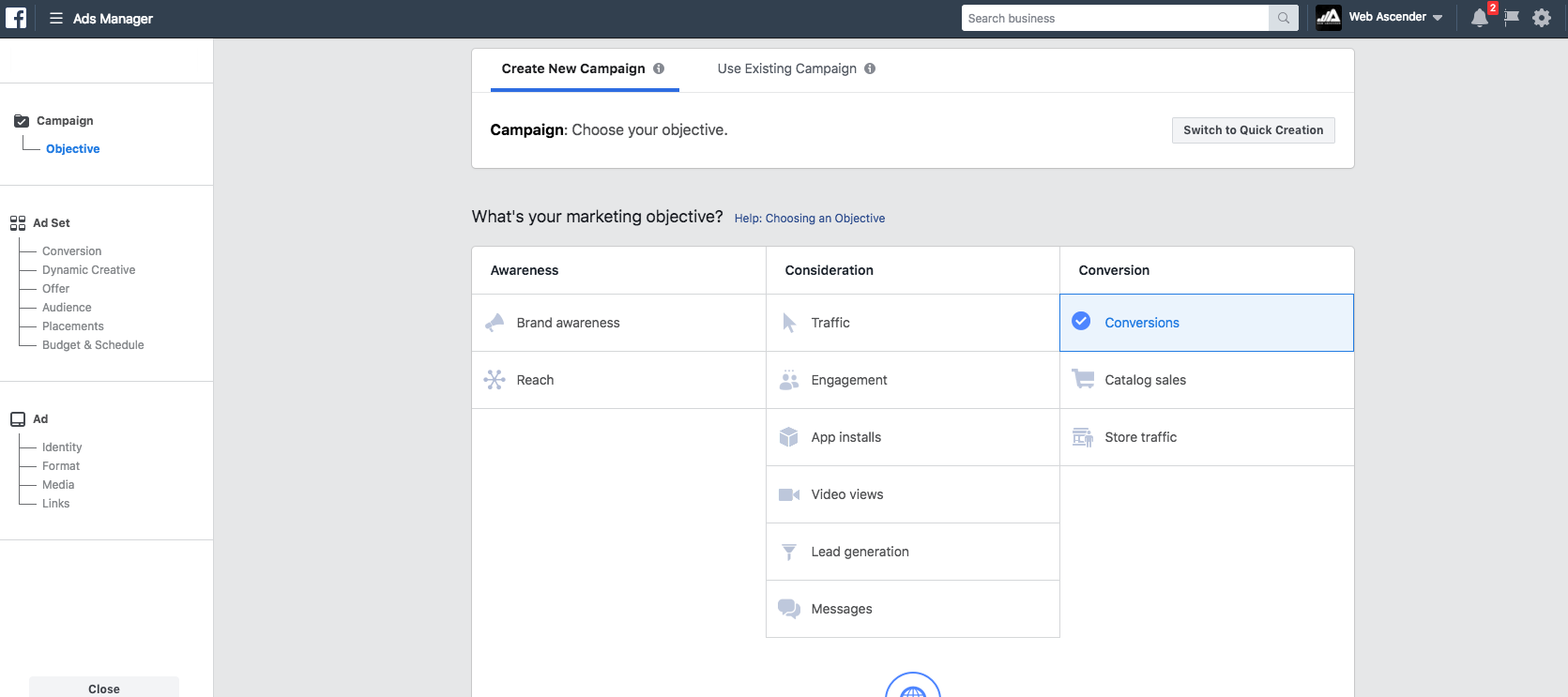 setting up facebook ads for beginners