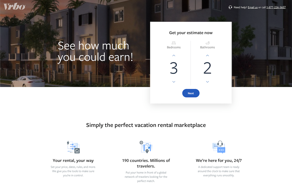 multiple step landing page template