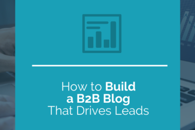 build b2b blog that drives leads
