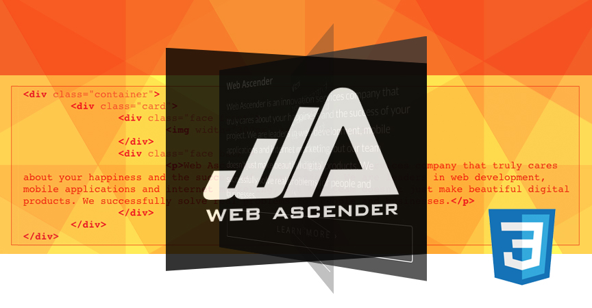 CSS 3D Card Flip Animation Tutorial - Web Ascender