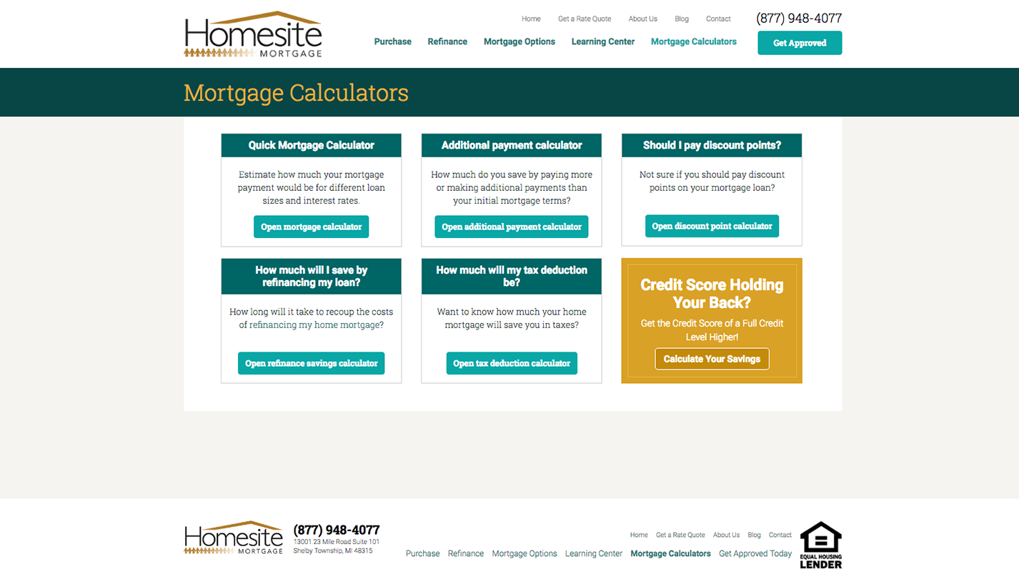 Homesite Mortgage screenshot