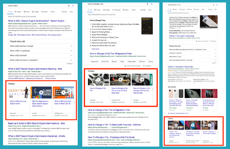 improve google ranking with video