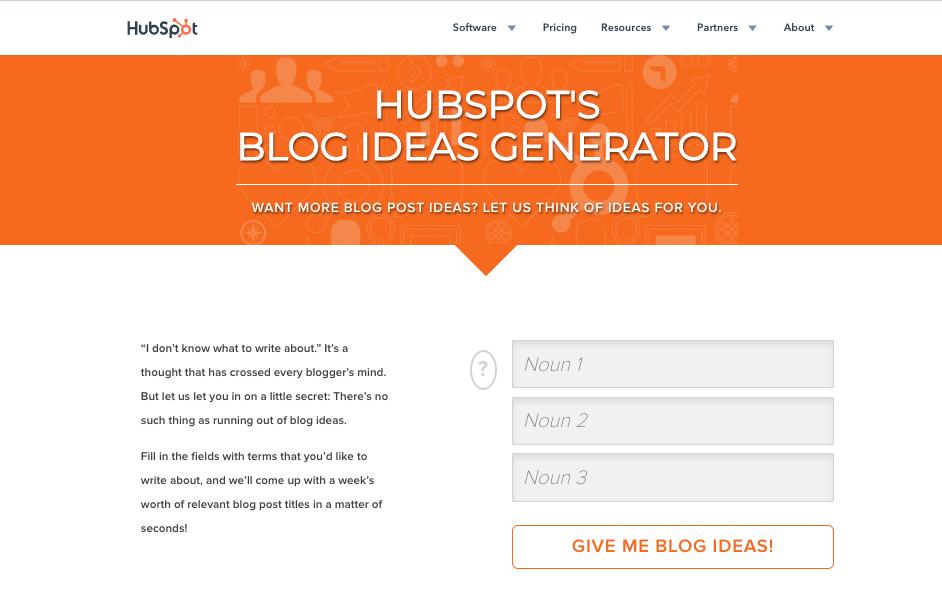 Hubspot Blog Post Generator Interactive Website Features