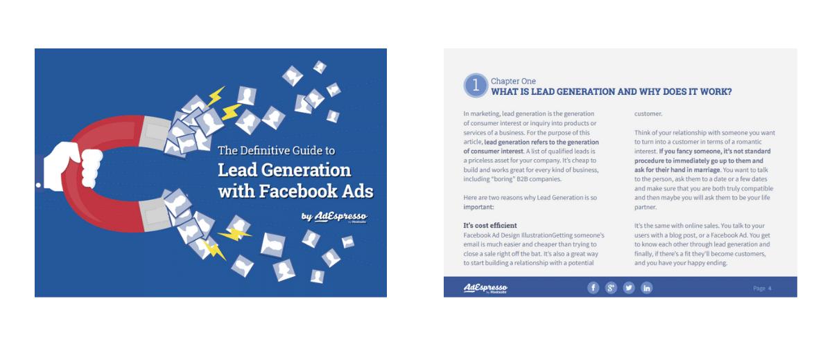 inbound marketing ebooks facebook ads