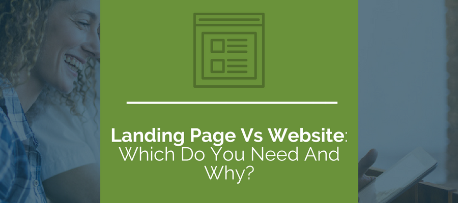 Landing page vs. Website