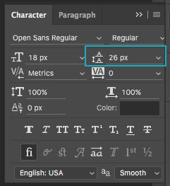 Basics of Typography: Leading in Photoshop
