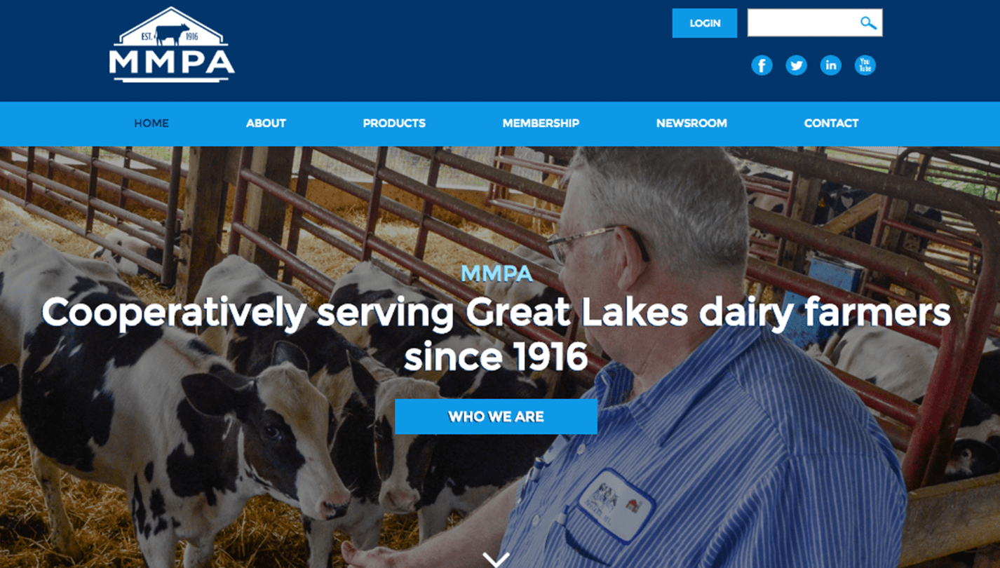 Michigan Milk Producers Association screenshot