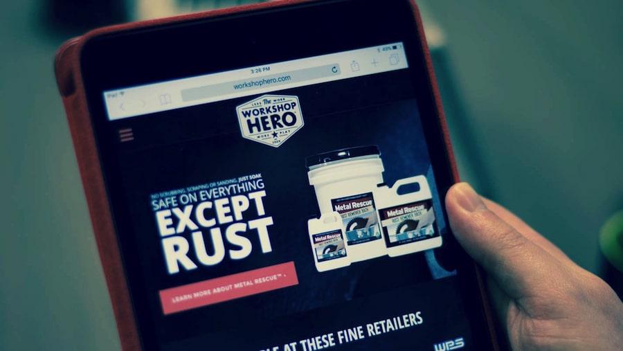 Workshop hero mobile website