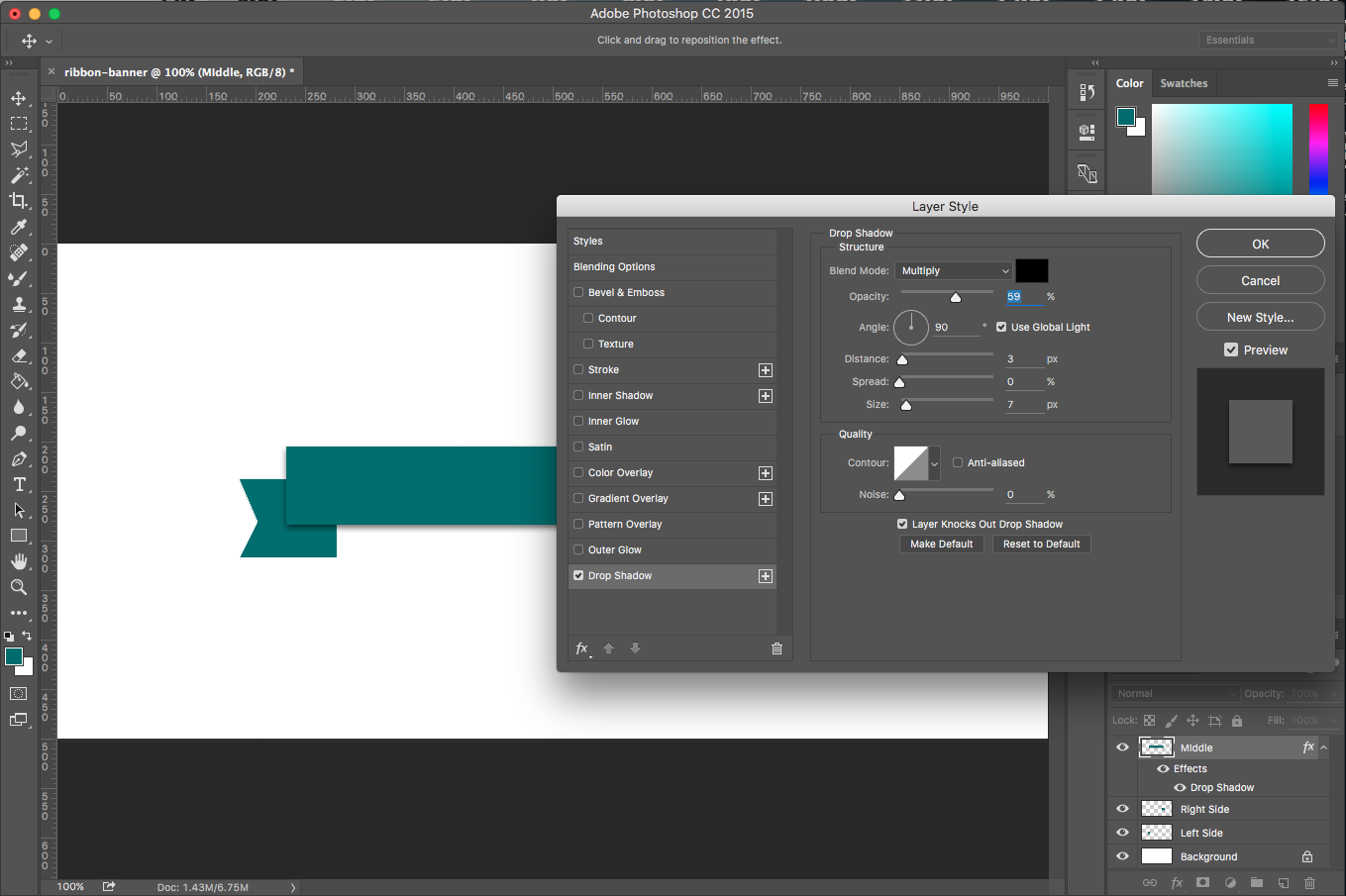 Photoshop Tutorial How To Create A Ribbon Banner