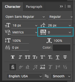Basics of Typography: Tracking in Photoshop