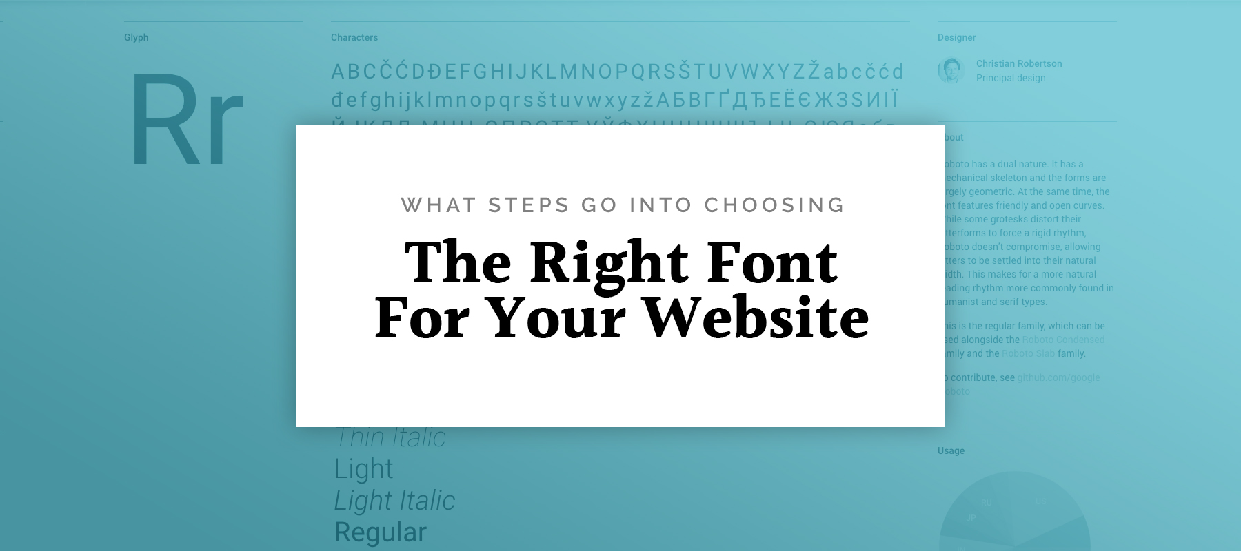 The right font for your website