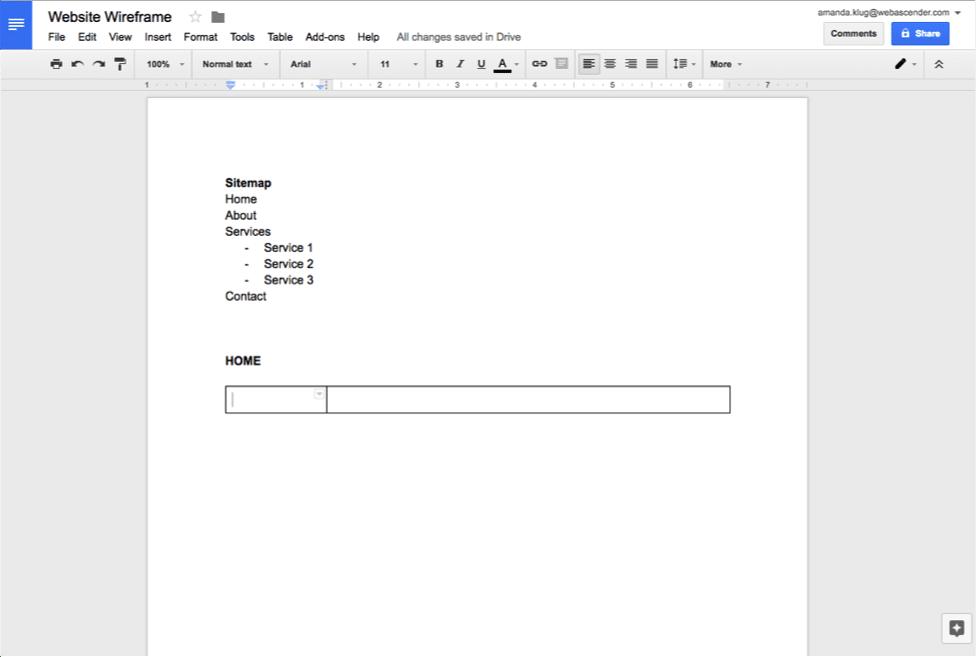google docs how to add horizontal line to header